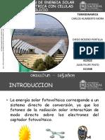 Transformacion Energia Solar en Energia Electrica. Celulas de Silicio.