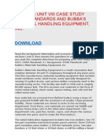 BOS 4025 UNIT VIII CASE STUDY OSHA STANDARDS AND BUBBA'S MATERIAL HANDLING EQUIPMENT, INC..docx