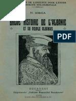 N.iorga Brève Histoire de l'Albanie Et Du Peuple Albanais-Bucarest 1919