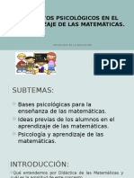 Aspectos Psicologicos Matematicas POWER Exposición