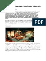 Gaya Interior Rumah Yang Paling Populer Di Indonesia