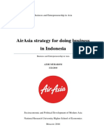 AirAsia strategy for doing business in Indonesia