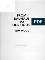 Wolfe - Bauhaus to Our House
