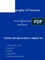 Geography of Universe