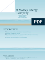 Death at Massey Energy Company