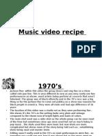 music recipe  1970s to 2015