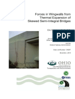 Forces in Wingwall From Thermal Expansion of Skewed Integral Bridge
