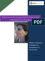 MA3dulo I. AnatomA-A y FisiologA-A de La Musculatura y El Nervio Facial