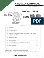 Sharp AR5516 5520 Installation Manual