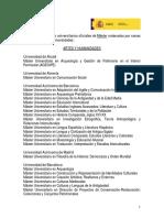 Listado Master Oficiales España