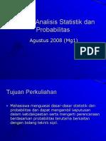 Si 2102 Analisis Statistik Dan Probabilitas Minggu1 Hmz