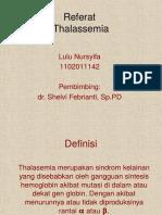Referat Thalassemia