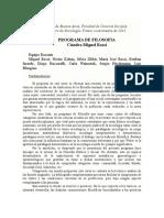 Filosofía (Rossi). Programa 2015 [Ampliado]