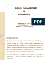HYDROGEN MANAGEMENT IN REFINERIES