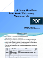 Removal of Heavy Metal Ions from Waste Water using Nanomaterials