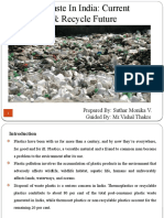 Plastic Waste In India