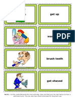 Daily Routines Esl Vocabulary Game Cards for Kids