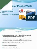 Pyrolysis of Plastic Waste