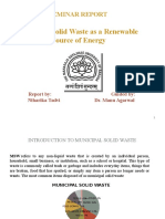 Municipal Solid Waste as a Renewable Source of Energy