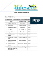 Simple Guidelines for Project Operation Management - A Sample From UN