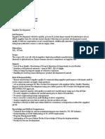 JD - Vendor Development