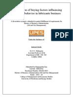 Rajagopalan Iyer - Dissertation Synopsis 1