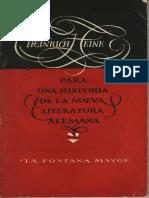 Heine, Heinrich - Para Una Historia de La Nueva Literatura Alemana