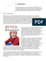 Mental Retardation - Examination