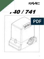 FAAC 740 instrukcja