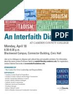 Interfaith Dialog Flyer