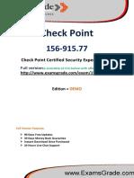 ExamsGrade 156-915.77 Certification Exam