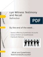 eye witness testimony