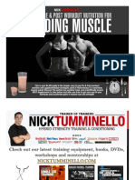 Pre-Post Workout Nutrition Manual for Gaining Muscle
