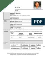 Formulário de Trabalho Belhven - Preenchido - Alexsandro Lima Dias - Técnico Da Qualidade