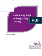 NALA Policy Brief on Integrating Literacy