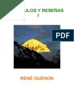 Guénon, René- Artículos y reseñas I