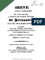 Fray José María Guzmán (1837) - Viaje a Los Santos Lugares