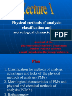 Physical Methods of Analysis