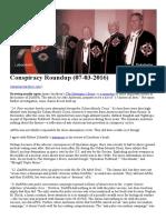 Conspiracy Roundup (07!03!2016)