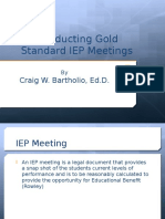 Conducting Gold Standard IEP Meetings 2013