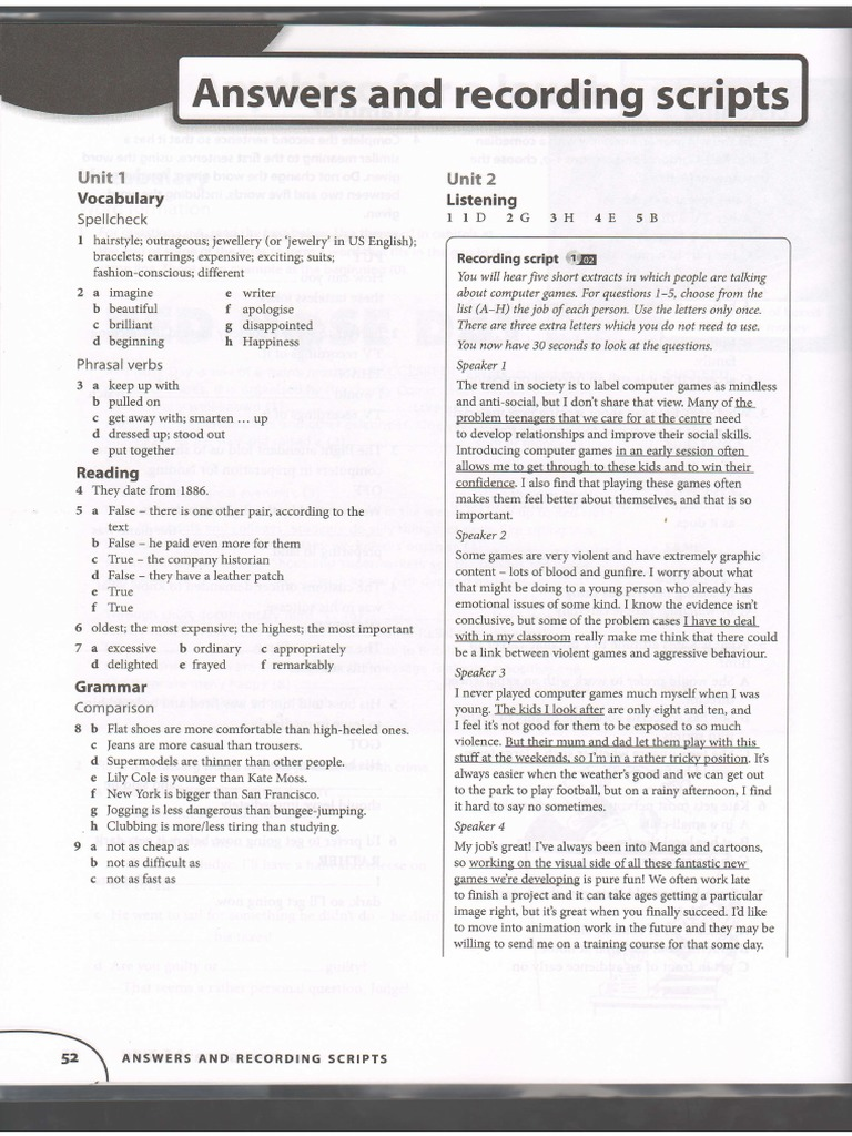 Objective first workbook answers zoo e books fandeluxe Choice Image