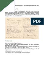Sekiya Toshiko Manuscript and Letters