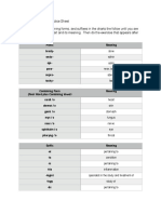 Medical Terminology Practice Sheets