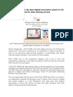 PLDT Home and Smart's Data Sharing Service Wins Digital Innovation Award
