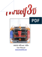 Airwolf 3D HD HDx User Manual 2014-12-02