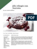 Ricetta Caprese Alle Ciliegie Con Gelato Di Burrata - La Cucina Italiana_ Ricette, News, Chef, Storie in Cucina