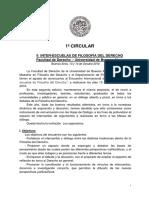 1ª Circular - II Interescuelas de Filosofia Del Derecho