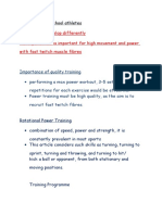 Training Young School Athletes