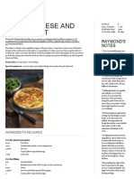 Comté Cheese and Chard Tart - Raymond Blanc OBE
