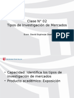 Clase 2. Tipos de Investigación de Mercados